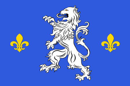 Flag of Nogent-le-Rotrou is a commune in the Eure-et-Loir department in northern France Vector illustration