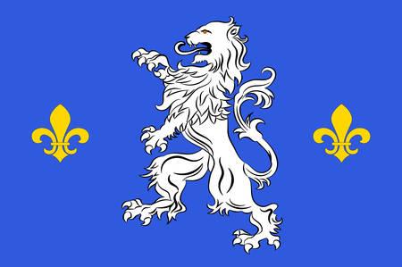 Drapeau de Nogent-le-Rotrou est une commune du département d'Eure-et-Loir dans le nord de la France. Banque d'images - 81664205