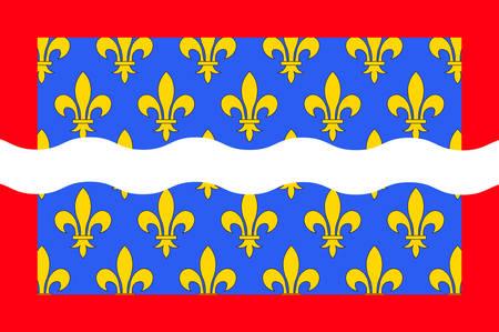 Drapeau du Cher est un département de la région Centre-Val de Loire en France. Illustration vectorielle Banque d'images - 81663759