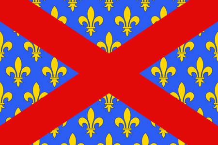 Flag of Langres is a commune in northeastern France. It is a subprefecture of the department of Haute-Marne, in the region of Grand Est. Vector illustration