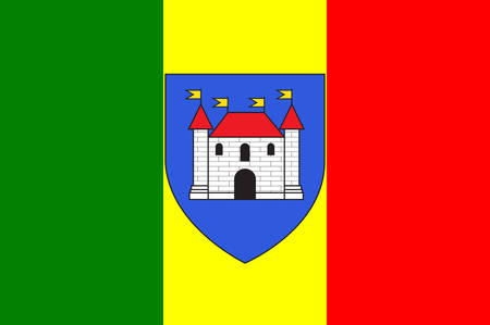 blanc: Flag of Chateauroux is the capital of the Indre department in central France. Vector illustration