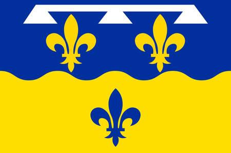 Drapeau de Loir-et-Cher est un département du Centre-Val de Loire, en France. Illustration vectorielle Banque d'images - 81663865
