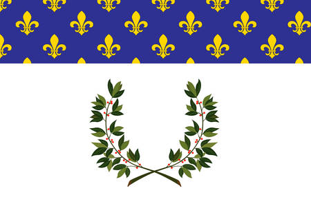 Flag of Reims is a city in the Grand Est region of France. Vector illustration Illustration