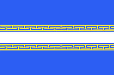 Flag of Marne is a department in Grand Est is a French administrative region of north-eastern France. Vector illustration
