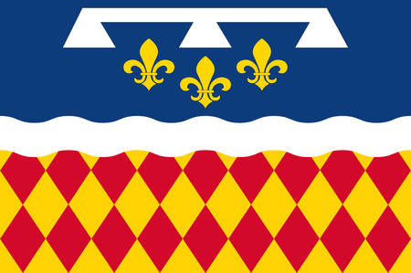 Flag of Charente is a department in southwestern France, in the Nouvelle-Aquitaine region. Vector illustration
