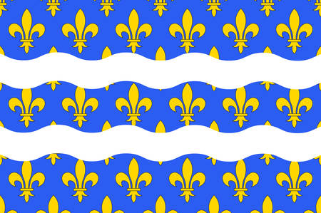 Flag of Seine-et-Marne is a French department, named after the Seine and Marne rivers, and located in the Ile-de-France region. Vector illustration