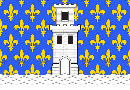bordeaux region: Flag of Niort is a commune in the Deux-Sevres department in western France. Vector illustration