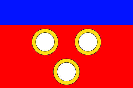 la: Flag of Mirande is a commune in the Gers department in southwestern France. Vector illustration Illustration