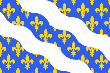 Flag of Yvelines is a French department in the region of Ile-de-France. Vector illustration
