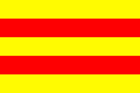 Flag of Torcy is a commune in the Seine-et-Marne department in the Ile-de-France region in north-central France. Vector illustration