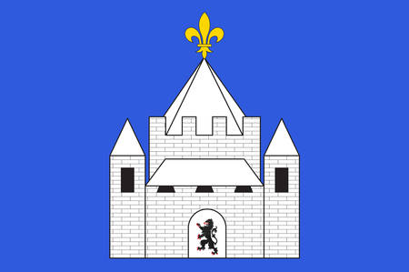 Flag of Provins is a commune in the Seine-et-Marne department in the Ile-de-France region in north-central France. Vector illustration