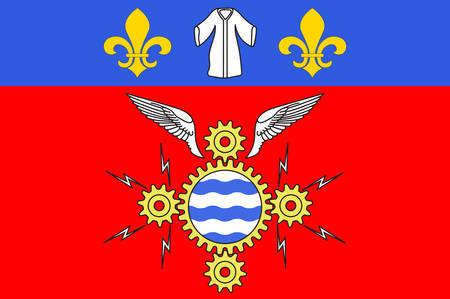 northwestern: Flag of Argenteuil is a commune in the northwestern suburbs of Paris, France. Vector illustration