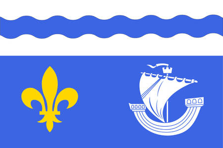 Flag of Hauts-de-Seine is a French department in the Ile-de-France region. Vector illustration