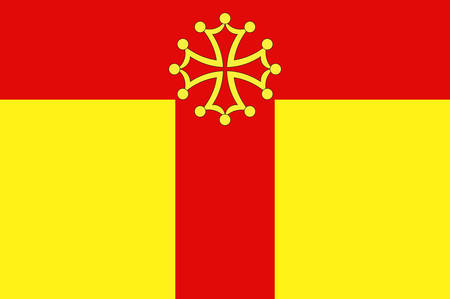 Flag of Tarn is a French department located in the Occitanie region in the southwest of France. Vector illustration Illustration