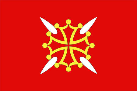 Flag of Haute-Garonne is a department in the southwest of France. Vector illustration