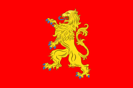 Flag of Valenciennes is a commune in the Nord department in northern France. Vector illustration Illustration