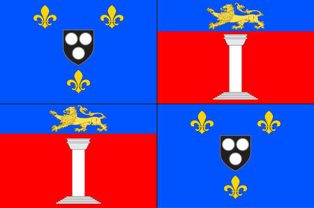 Flag of Antony is a subprefecture of the Hauts-de-Seine department and the seat of the arrondissement of Antony, France. Vector illustration