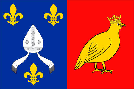 la: Flag of Charente-Maritime is a department on the southwestern coast of France. Vector illustration