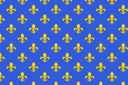 Bandiera di Saint-Denis è una sottoprefettura del dipartimento di Seine-Saint-Denis, essendo la sede del circondario di Saint-Denis, in Francia. Illustrazione vettoriale Archivio Fotografico - 81667441