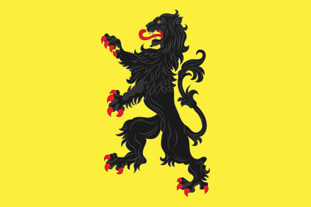 sur: Flag of Avesnes-sur-Helpe is a commune in the Nord department in northern France. Vector illustration Illustration