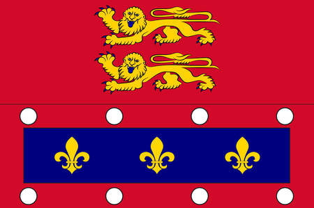 Flag of Orne is a department in the northwest of France in the region of Normandy. Vector illustration