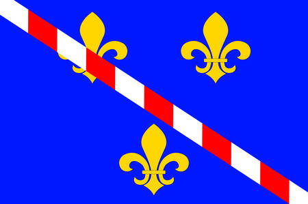manche: Flag of Evreux is a commune in the Eure department, of which it is the capital, in Haute Normandie in northern France. Vector illustration