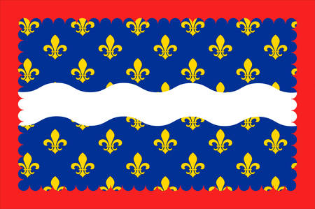 Flag of Loir-et-Cher is a department in the Center-Val de Loire region, France. Vector illustration Illustration