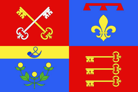 Flag of Vaucluse is a department in the southeast of France. Vector illustration