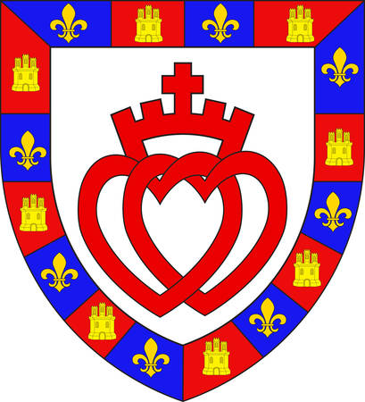 la: Coat of arms of Vendee is a department in the Pays-de-la-Loire region in west-central France. Vector illustration