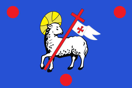 Flag of Grasse is a commune in the Alpes-Maritimes department, on the French Riviera. Vector illustration
