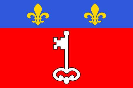 Flag of  western France. Vector illustration