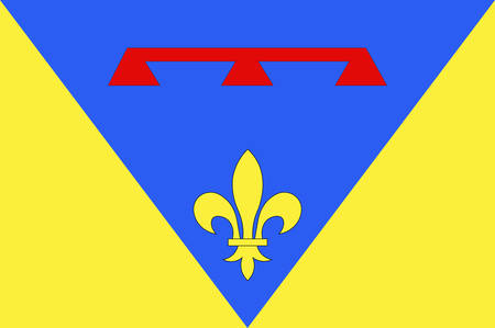 provence: Flag of Var is a department in the Provence-Alpes-Cote dAzur region in Provence in southeastern France. Vector illustration