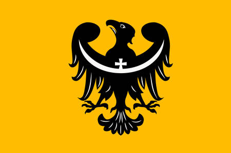 Flag of Lower Silesian Voivodeship or Lower Silesia Province in Poland. Vector illustration