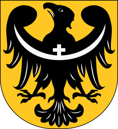 wroclaw: Coat of arms of Lower Silesian Voivodeship or Lower Silesia Province in Poland. Vector illustration from Giovanni Santi-Mazzini Heraldic 2003