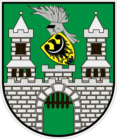 Coat of arms of Zielona Gora city in Lubusz Voivodeship in western Poland. Vector illustration