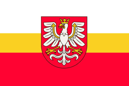 Flag of Lesser Poland Voivodeship or Malopolska Province in southern Poland. Vector illustration Ilustracja