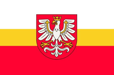 Flag of Lesser Poland Voivodeship or Malopolska Province in southern Poland. Vector illustration Illustration
