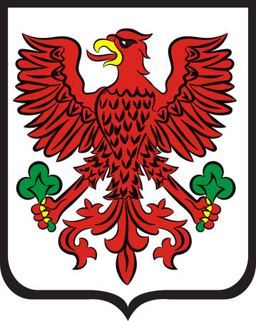 Coat of arms of Gorzow Wielkopolski city in Lubusz Voivodeship in western Poland. Vector illustration