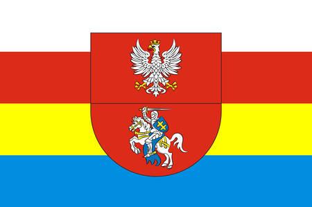Flag of Podlaskie Voivodeship in northeastern Poland. Vector illustration Illustration