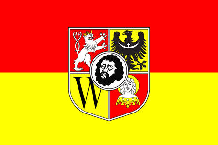 wroclaw: Flag of Wroclaw is the largest city in Poland. Vector illustration Illustration