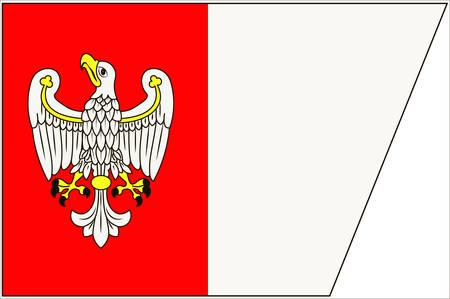 pila: Flag of Greater Poland Voivodeship or Wielkopolska Province in west-central Poland. Vector illustration