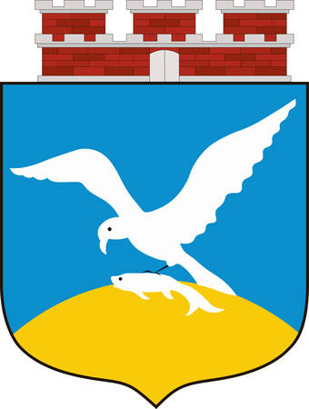 gdansk: Coat of arms of Sopot is a town in Eastern Pomerania in northern Poland. Vector illustration from the Heraldry of the World authors and compilers Olga Bortnik, Ivan Rezko, 2008