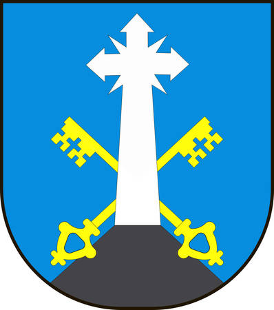 Coat of arms of Zakopane is a town in the extreme south of Poland. Vector illustration from the Heraldry of the World authors and compilers Olga Bortnik, Ivan Rezko, 2008