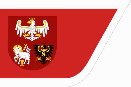 Flag of Warmian-Masurian Voivodeship or Warmia-Masuria Province in northeastern Poland. Vector illustration