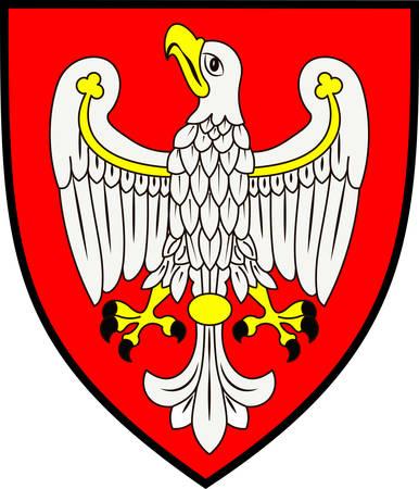 pila: Coat of arms of Greater Poland Voivodeship or Wielkopolska Province in west-central Poland. Vector illustration from Giovanni Santi-Mazzini Heraldic 2003 Illustration