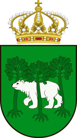 Coat of arms of Chelm city in Lublin Voivodeship in southeastern Poland. Vector illustration Illustration