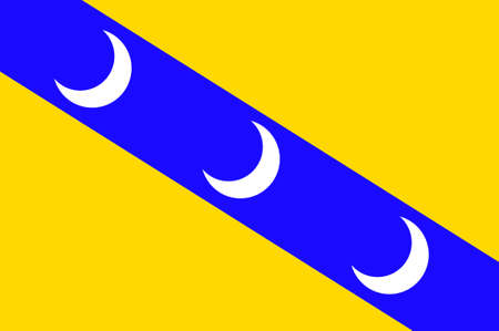 Flag of Luneville is a commune in the Meurthe-et-Moselle department in France. 3d illustration