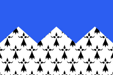 Flag of Cotes Armor formerly named Cotes-du-Nord, is a department in the north of Brittany, in northwestern France. 3D illustration Stock Photo