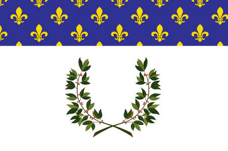 Flag of Reims is a city in the Grand Est region of France. 3d illustration Stock Photo