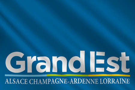 Flag of Grand Est is a French administrative region in northeastern France. 3d illustration